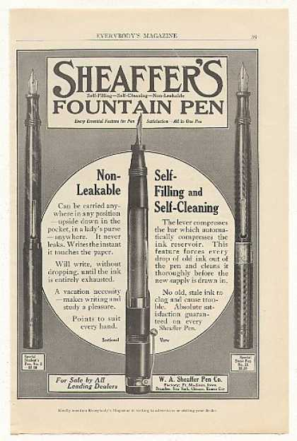 Sheaffer's Fountain Pen Student Steno Pens (1915)