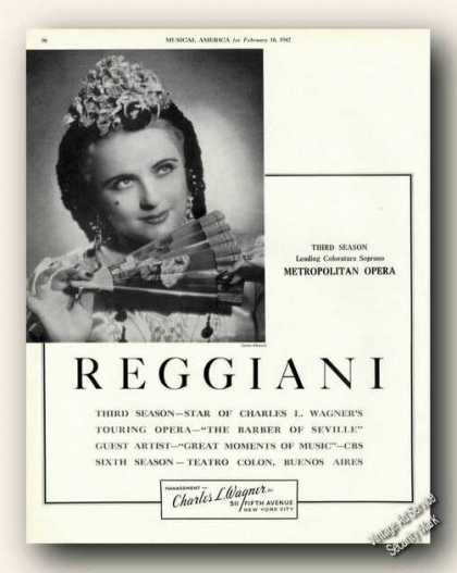 Hilde Reggiani Photo Soprano Antique (1942)