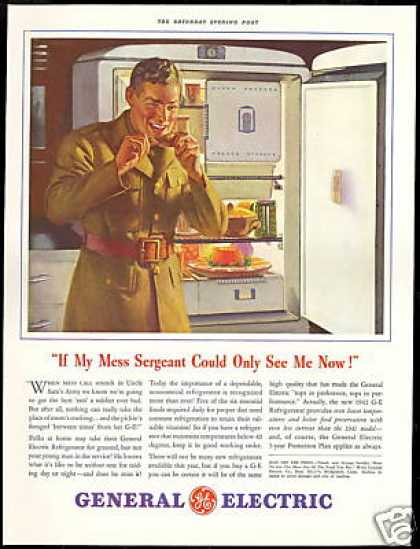 GE General Electric Refrigerator Army Soldier (1942)