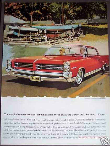 Wide-track Pontiac for '64 Red Car (1963)