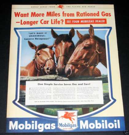 Old , Mobilgas, Wartime Rations (1944)