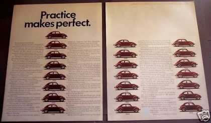 Volkswagen Vw Car Practice Makes Perfect (1970)