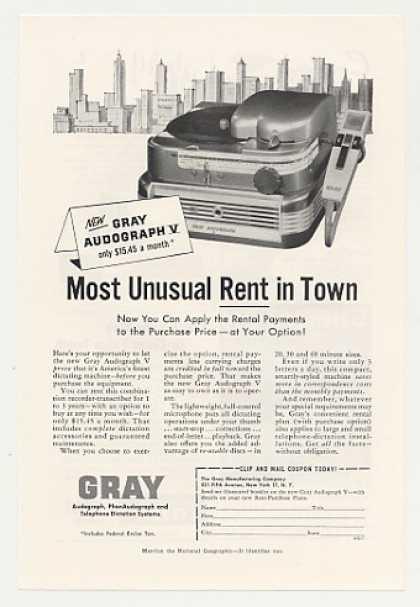 Gray Audograph V Dictating Machine (1956)