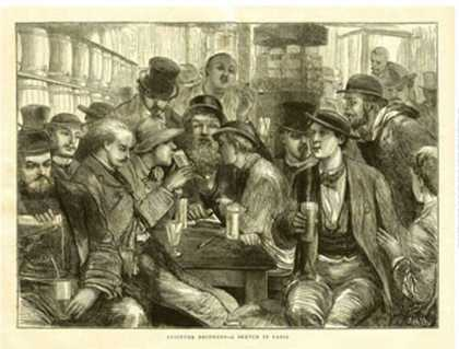 The Graphic , Absinthe Drinkers (1872)