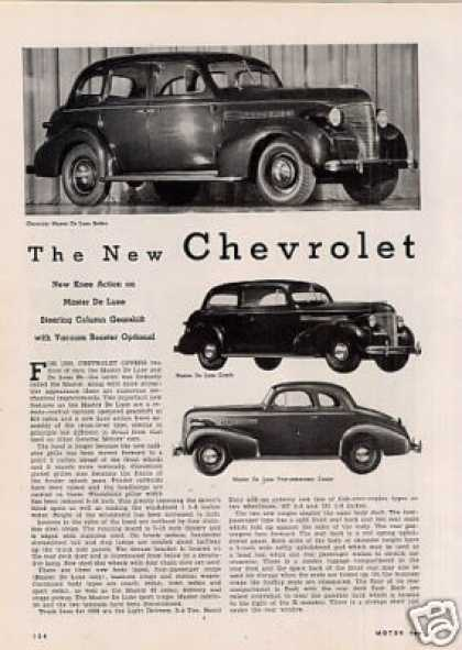 """The New Chevrolet"" Article (1938)"