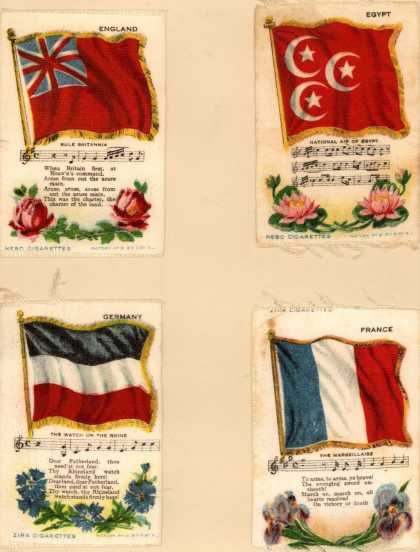 Unknown [Lorillard?]'s Zira and Nebo Cigarettes – National Flag Series – Image 4
