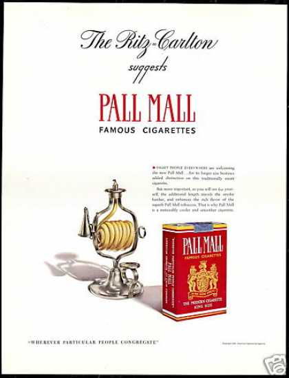 Ritz Carlton Pall Mall Cigarette Lighter (1940)