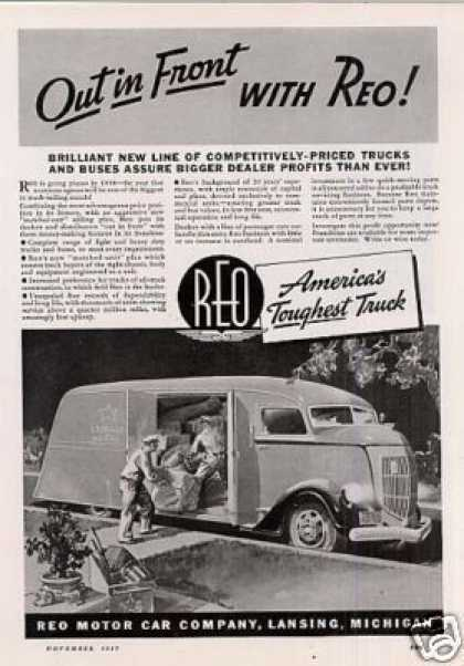 "Reo Truck Ad ""Out In Front... (1938)"