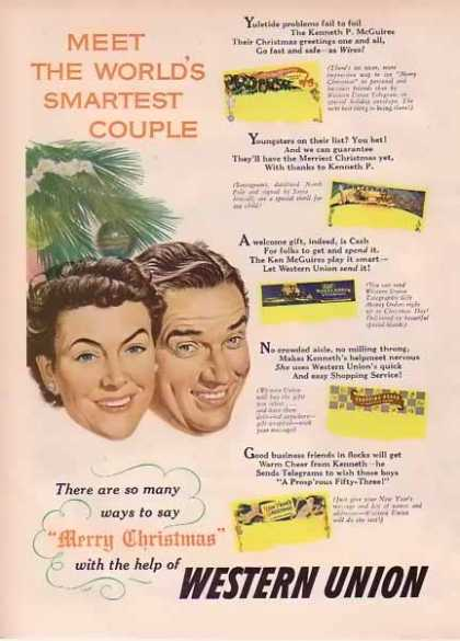 Western Union Christmas – Smartest People (1949)