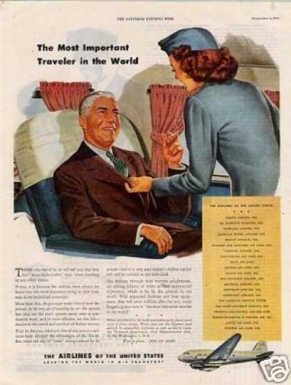 "Airlines of the United States Ad ""The Most... (1944)"