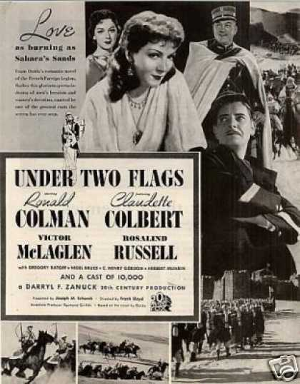 "Movie Ad ""Under Two Flags"" Ronald Colman (1936)"