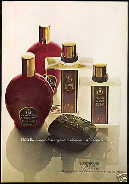 Guerlain Habit Rouge Cream Soap Cologne Photo (1968)