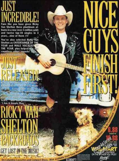 "Ricky Van Shelton Photo ""Backroads"" Album (1991)"