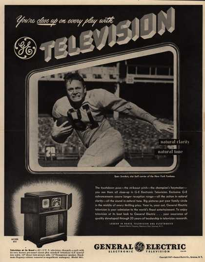 General Electric Company's Television – You're close up on every play with GE Television (1947)