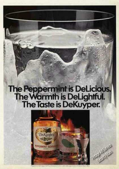 Dekuyper Peppermint Schnapps Collectible (1982)