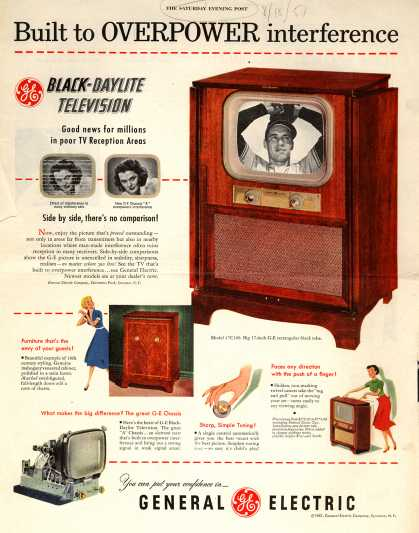 General Electric Company's Black-Daylite Television – Built to Overpower interference (1951)