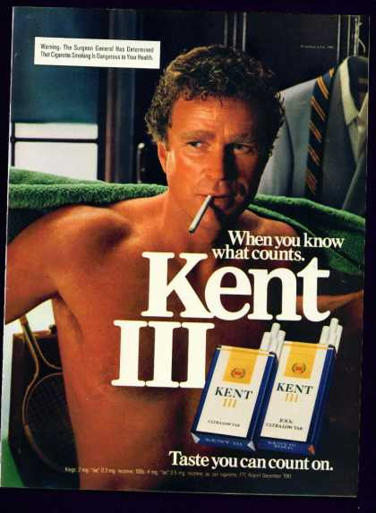 Hunk In Kent Iii Cigarettes C Ad Gay Interest (1982)