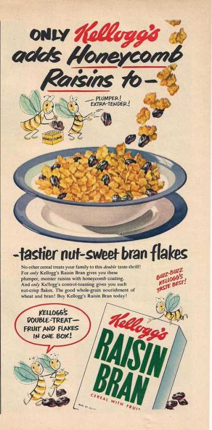 Kelloggs Raisin Bran Cereal (1951)