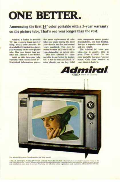 Admiral TV – Playmate Color Portable – Sold (1968)