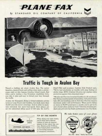 Avalon Bay Ca Art Chevron Plane Fax Aircraft (1960)