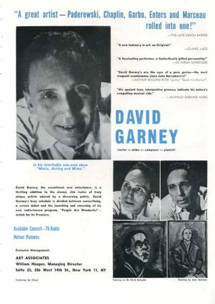 David Garney Actor Mime Composer (1961)
