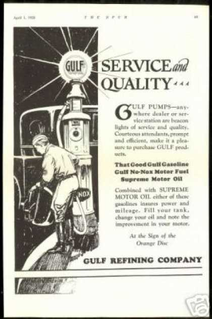 Gulf Gas Station Pump Globe Sign Vintage UK (1928)