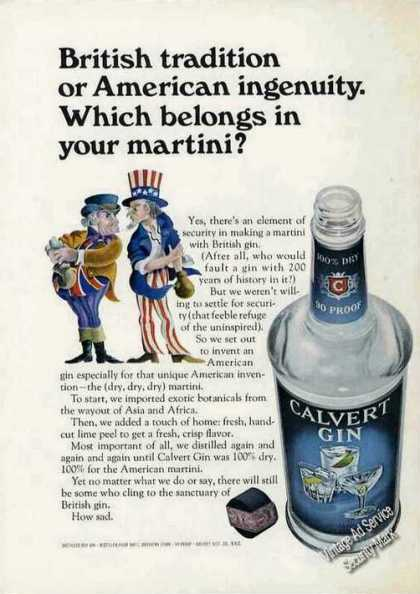 British Tradition or American Ingenuity Calvert (1966)