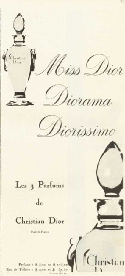 Christian Dior Miss Perfume Bottle (1958)