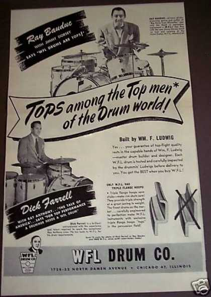 Ray Bauduc Dick Farrell Ludwig Drums Music (1949)