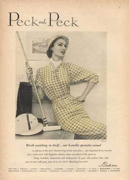 Peck Polo Fashion Lanella Dress Wool (1952)