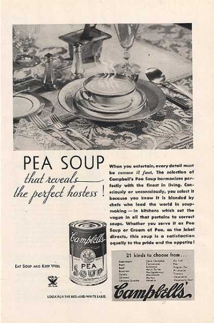 Campbell's Pea Soup (1934)