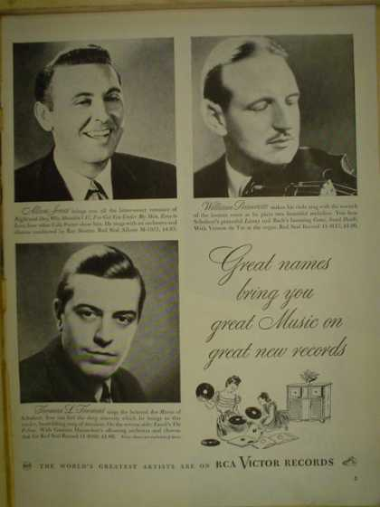 RCA Victor Records. Allan Jones, William Primrose, Thomas L Thomas (1946)