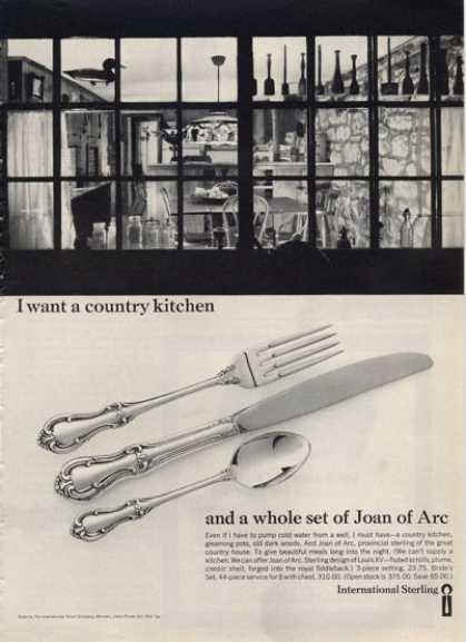 International Sterling Silver Dinnerware Photo (1964)