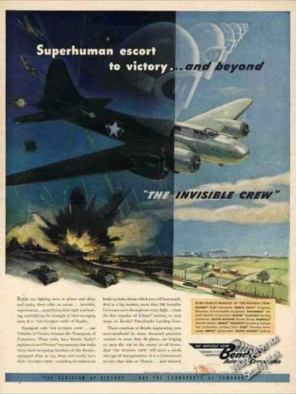 "Wwii Bomber Art ""The Invisible Crew"" Bendix (1943)"