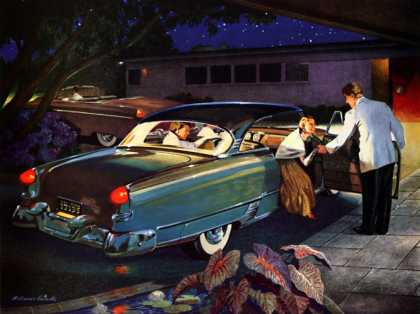 Every light on your car burns . . . gasoline Melbourne Brindle Ethyl Corporation, 1954