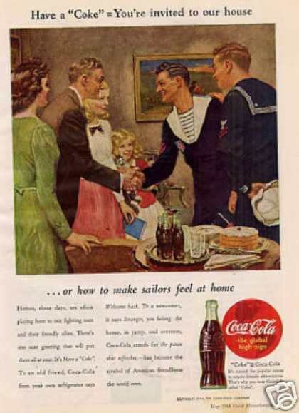 "Coca-cola Ad ""How To Make Sailors... (1944)"