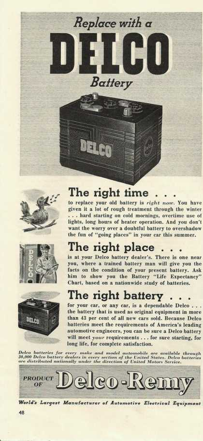 Delco Remy Car Battery (1941)