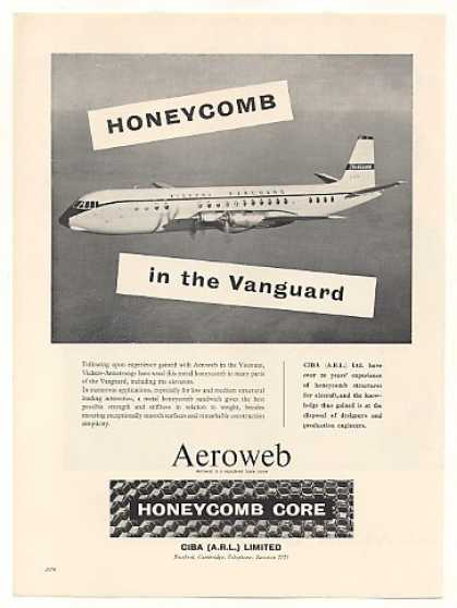 '59 Vickers Vanguard Aircraft CIBA Aeroweb Honeycomb (1959)