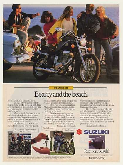 Suzuki Savage 650 Motorcycle Beauty and Beach (1987)