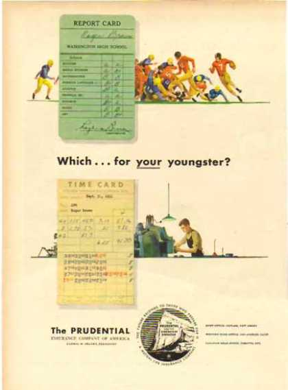 Prudential – Which card for your youngster? (1951)