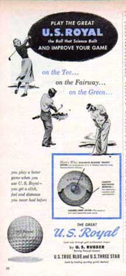 U.S. Royal Golf Ball – On the Tee (1949)