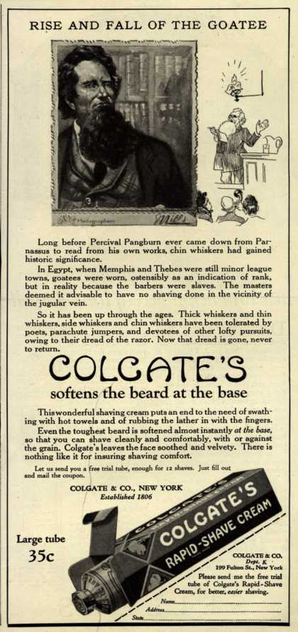 Colgate & Company's Colgate's Rapid-Shave Cream – Rise And Fall Of The Goatee (1924)
