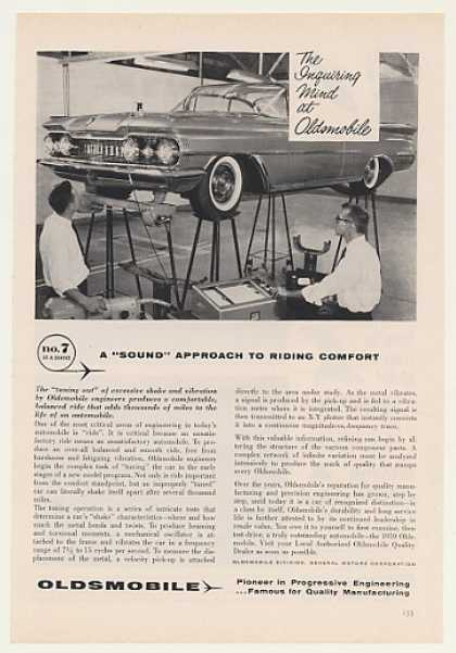 Oldsmobile Tuning Out Shake Vibration Test (1959)