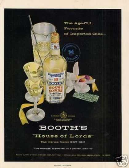 Booth's House of Lords Dry Gin (1955)