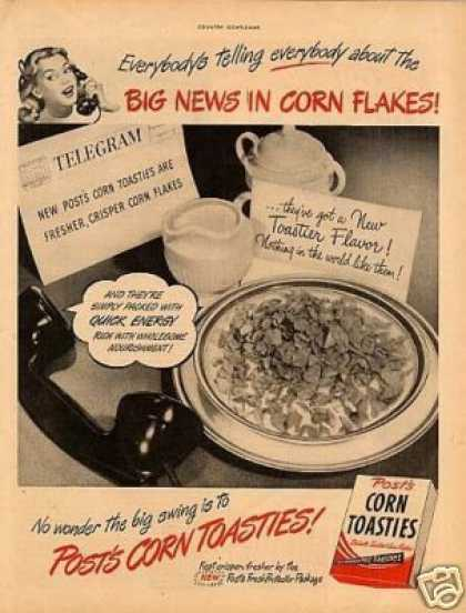 Post Corn Flakes Cereal (1947)