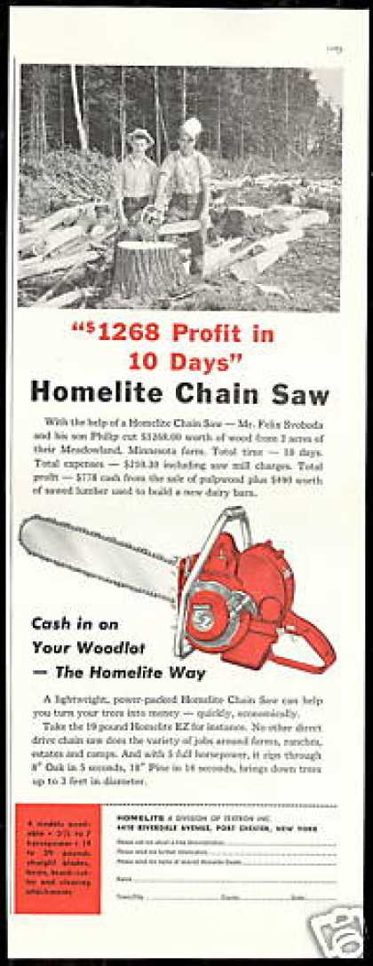 Homelite Chain Saw Meadowland Minnesota (1956)