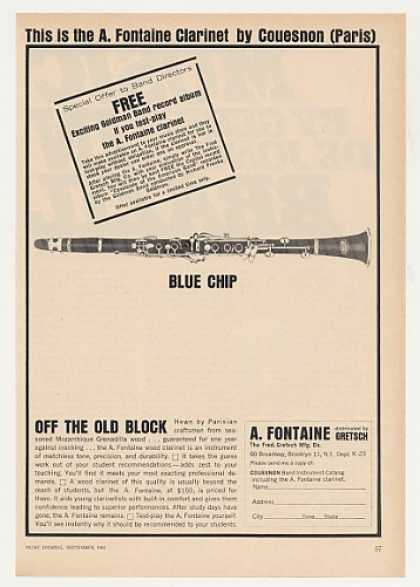 A Fontaine Couesnon Clarinet Blue Chip (1963)