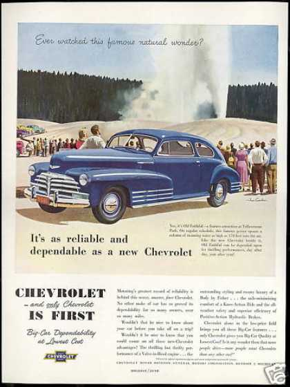 Chevrolet 2dr Car Yellowstone Old Faithful (1948)