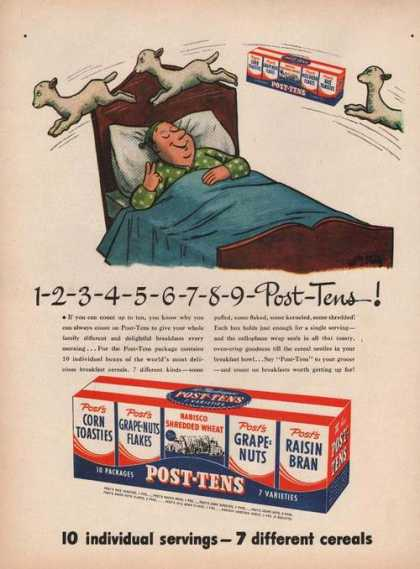Post Tens Variety Cereal Pack (1946)