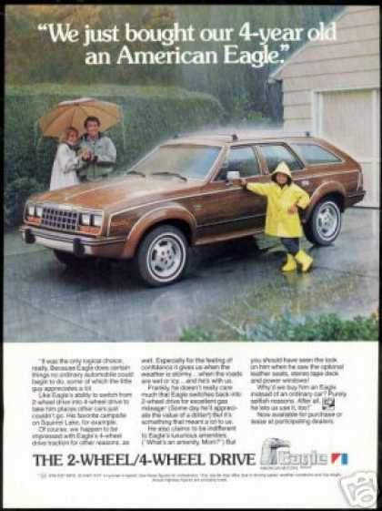 American Eagle Wagon Photo Vintage AMC (1984)